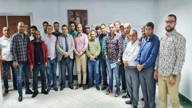 اجتماع رئيس المجلس الجماعي للناظور مع وفد من أعضاء الاتحاد الإقليمي لنقابات الناظور