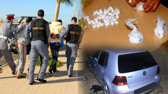 الدرك الملكي ببن الطيب يعتقل 3 أشخاص على متن سيارة محملة بكمية مهمة من الكوكايين